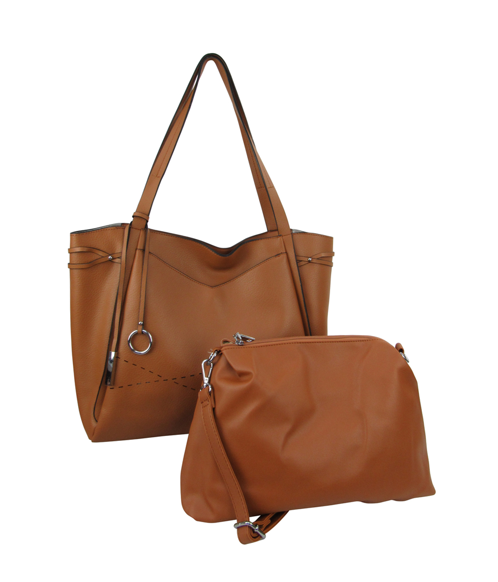 18852 - Wholesale 2-in-1 Front Pocket Tote Shoulder