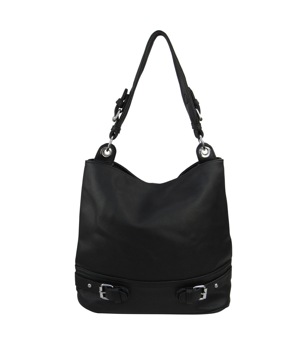 7297 - Wholesale Buckle Accent Hobo