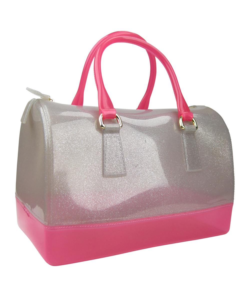 Whole Two Tone Jelly Satchel Handbag