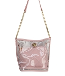 68819-Wholesale Transparent See Through 2-IN-1 Bag