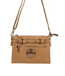 SH819 - Wholesale Top Faux Buckle Cross-body with Emblem