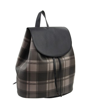 38835 - Wholesale Plaid Drawstring Backpack