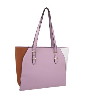 7268 - Wholesale Color Block Tote Handbag