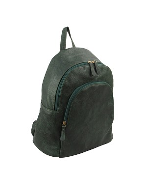 7307 - Wholesale Textured Double Zipper Fashion Backpack