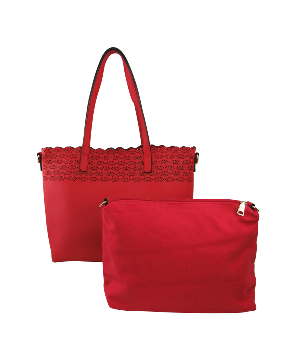 58838-Wholesale Perforated 2-IN-1 Tote