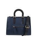 28956-Wholesale Front Zip Pocket Design Tote Satchel