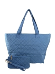 58824/28963 - Wholesale Quilted Tote with Wristlet