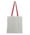 3016 - Wholesale Cotton  Canvas Tote with Colored Handles
