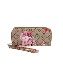 403 - Wholesale Floral Print Double Zipper Wallet