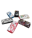 405 - Wholesale Floral Print Double Zipper Wallet