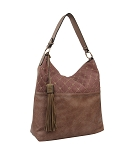 58833 - Wholesale Grommet Hobo Shoulder Bag with Shoulder Tassel