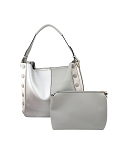 58835 - Wholesale 2-in-1 Side Button Tote Handbag