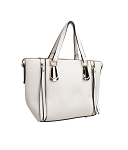 68813 - Wholesale Mini Tote Handbag with Faux Zipper Tassels