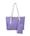7275 - Wholesale Quilted Tote with Wrist-let