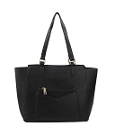 7283 - Wholesale Multi Front Pocket Tote Bag with Shoulder Strap