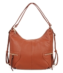 7353/ 7350-1 - Zip Convertible Hobo To Backpack