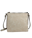 7521 - Wholesale Floral Emboss Design Cross-body