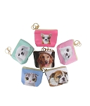 90021 - Wholesale Dog Print Coin Purse Key chain