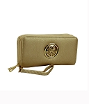9822-AN - Wholesale Double Zipper Wallet with Emblem