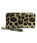 9827-8 - Wholesale Shiny Leopard Wallet