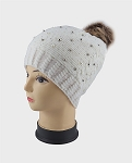 AA957 - Wholesale Pearl Studded Lady's Winter Hat