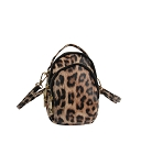 B8313 - Wholesale Leo Print Multi Compartment Cross-body Bag
