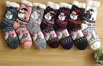 HW3103 - Wholesale Snowman Fleece-Lined Slipper Socks