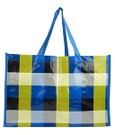 ZQ2004 - Wholesale Yellow/Blue Printed Shopping Bag