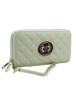 511 - Wholesale Quilted Double Zipper Wallet