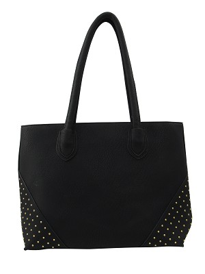 7260 - Wholesale Studded Corner Tote Shoulder Bag