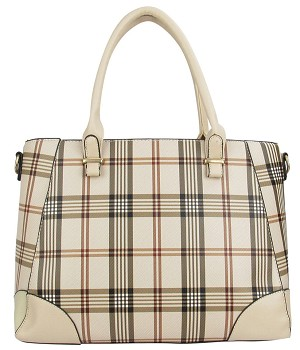 7264 - Wholesale Plaid Satchel