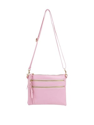 7273- Compact Cross-body with Tassel Zipper