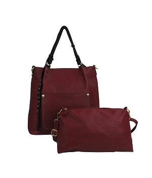 7312 - Wholesale 2-in-1 Front Pocket Tote