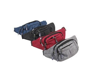 7503-Wholesale Canvas Fanny Pack 10 Piece Bundle