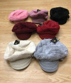 HW2901 - Wholesale Newsboy Caps Winter Hat with Warm Fleece Lined For Lady