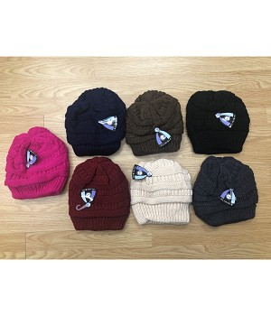 HW2916 - Wholesale Three Stripes Fleeced Hat